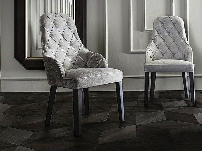 Tufted upholstered fabric chair DIANA | Tufted chair by Casamilano