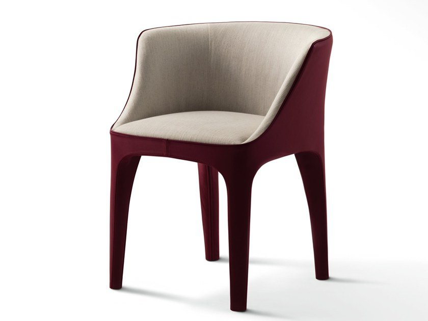 Fabric chair with armrests DIANA by GIORGETTI
