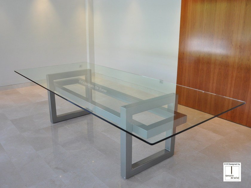Glass dining table DIANA by Gonzalo De Salas