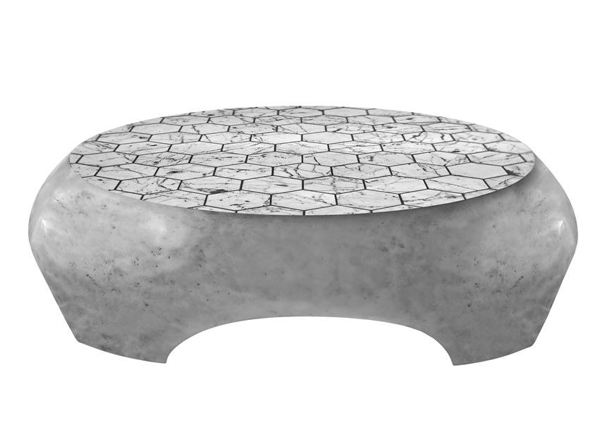 Low Carrara marble coffee table DIANA K1381 by KARPA