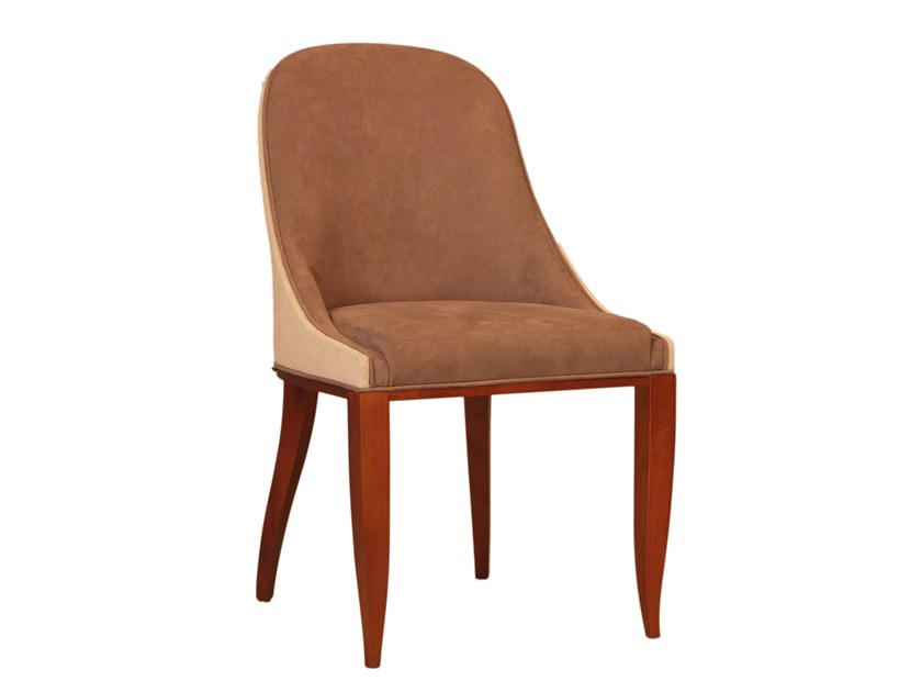 Upholstered cherry wood chair DIANA by Morelato
