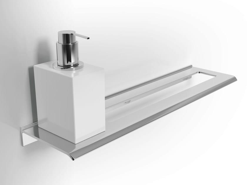 Aluminium liquid soap dispenser / towel rack DIANTHA | Liquid soap dispenser by Alna