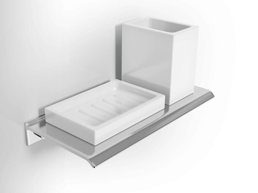 Wall-mounted ceramic toothbrush holder DIANTHA | Ceramic materials toothbrush holder by Alna