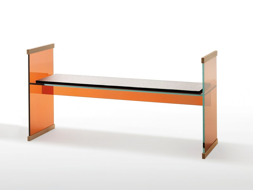 Crystal bench DIAPOSITIVE | Bench seating by Glas Italia