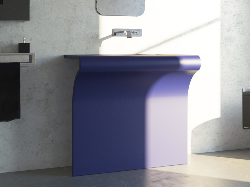 Rectangular stainless steel washbasin DICIOTTO by Componendo