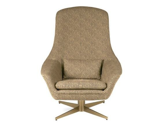 Fabric easy chair with 4-spoke base DIDRIK | Easy chair with 4-spoke base by Hamilton Conte Paris