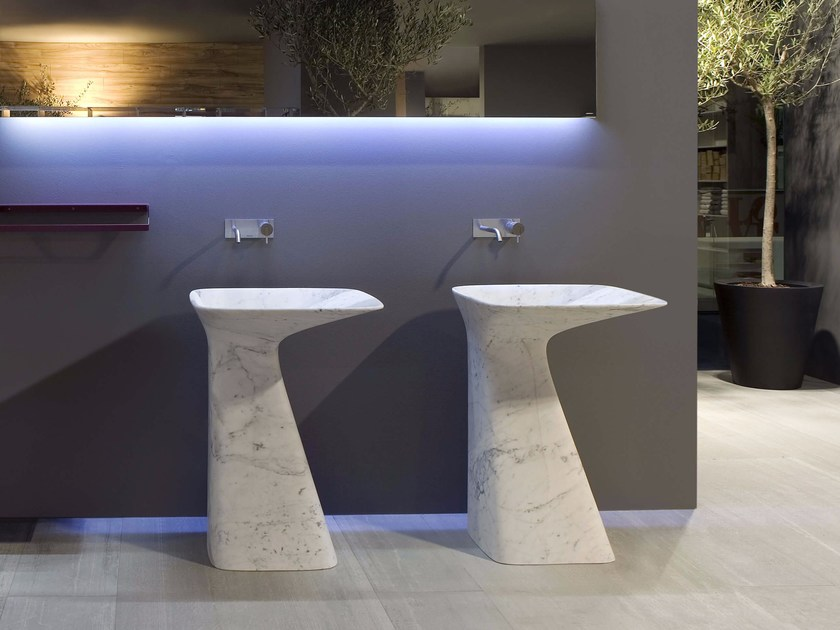 Freestanding marble washbasin DIERESI by Antonio Lupi Design