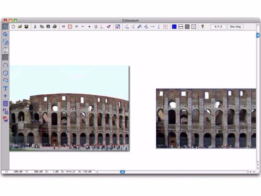 Photographic survey, photo-straightening DIGICAD 3D by INTERSTUDIO