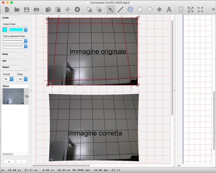 DigiCad 3D 10 Correzione deformazione ottica