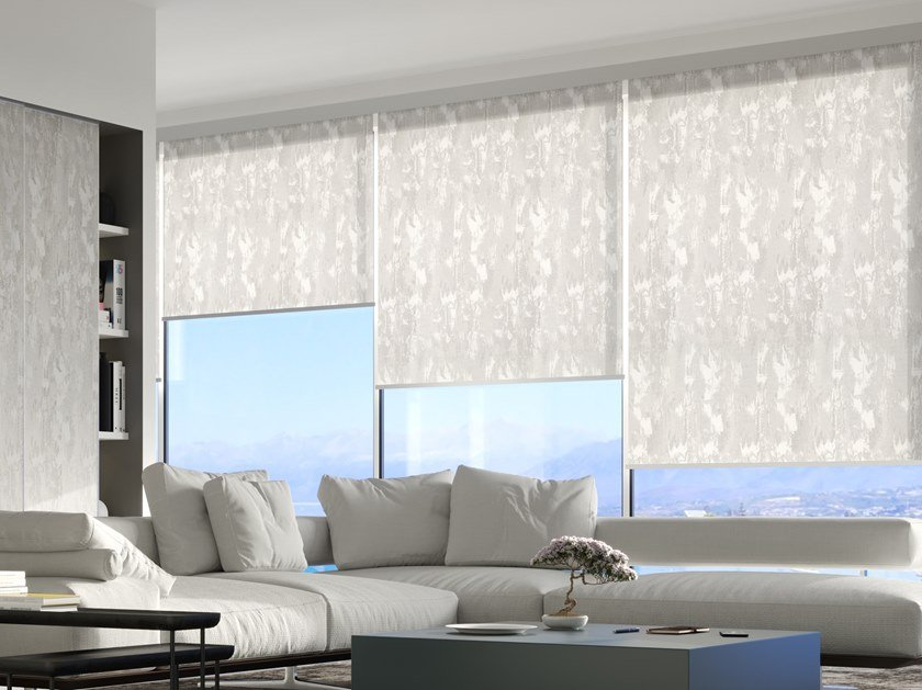 Printed fabric fabric for curtains Personalized prints roller blind systems by Scaglioni