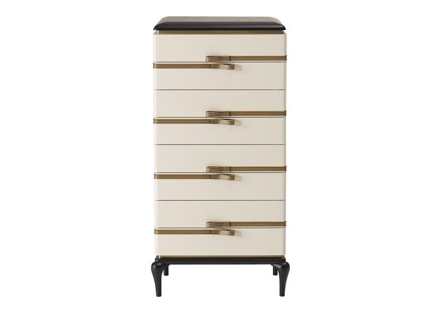 8 drawers tall-boy DILAN | Chest of drawers by A.R. Arredamenti