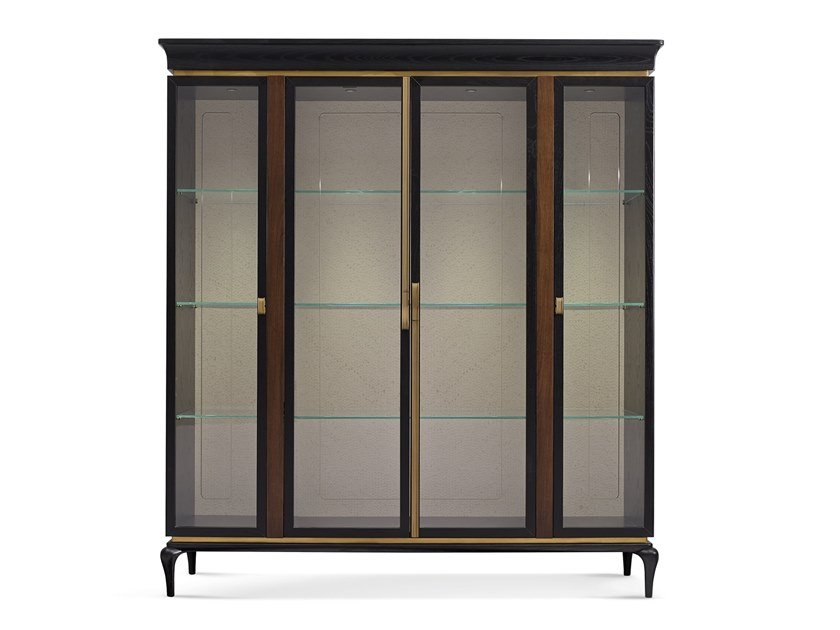 Wooden display cabinet DILAN | Display cabinet by A.R. Arredamenti