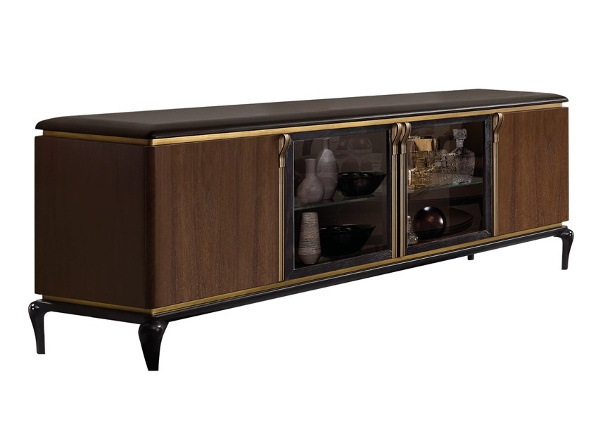 Wooden TV cabinet DILAN | TV cabinet by A.R. Arredamenti