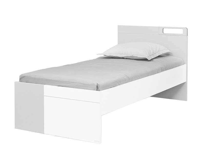 Lacquered single bed DIMIX | Single bed by GAUTIER FRANCE