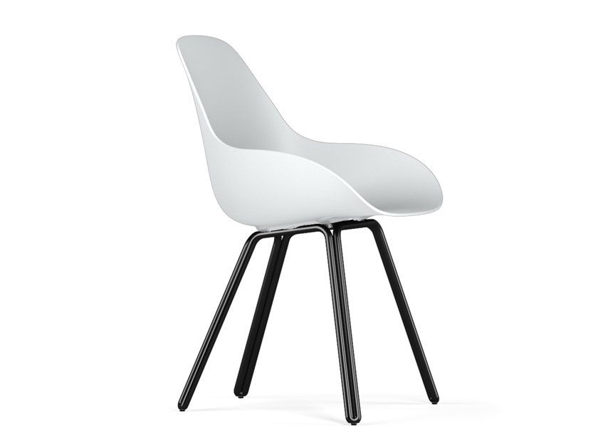 Polypropylene chair DOUBLE DIMPLE CLOSED by KUBIKOFF