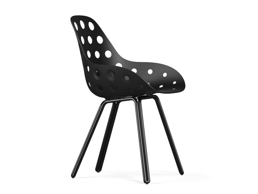 Polypropylene chair DOUBLE DIMPLE by KUBIKOFF