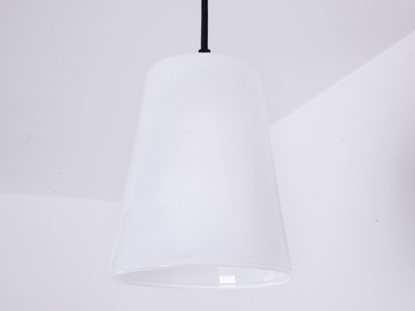 LED opal glass pendant lamp DIN-DON by ENGI