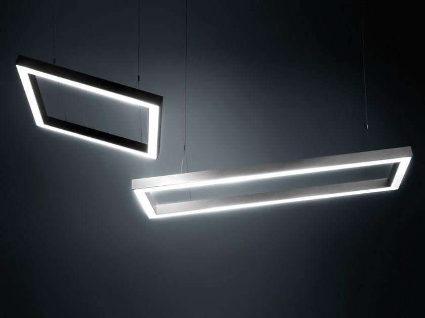 Lampada a sospensione a LED a luce diretta in alluminio DINAMICA Q by PLEXIFORM