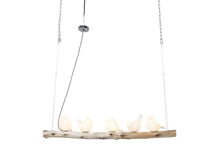 Porcelain pendant lamp DINING BIRDS by KARE-DESIGN