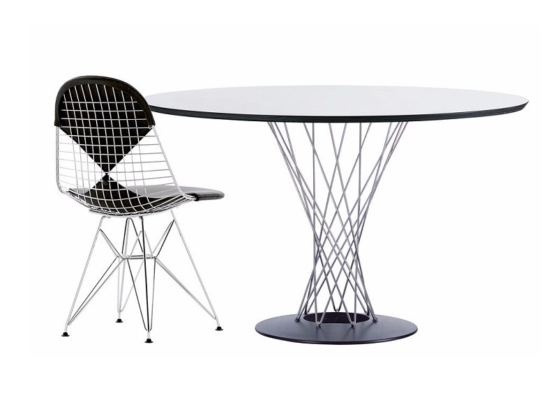 Round Dining Table By Vitra Design Isamu