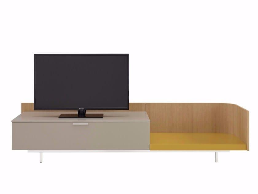 Meuble Tv Bas Laque Dino By Ligne Roset Design Eric Jourdan