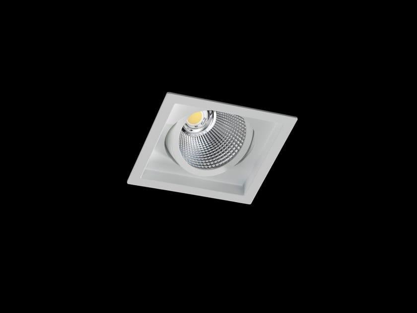 Faretto a LED orientabile in alluminio verniciato a polvere da incasso DION FLEX by LUNOO