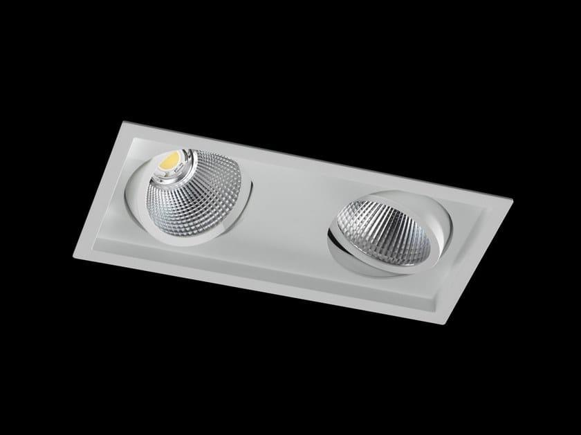 Faretto a LED multiplo in alluminio verniciato a polvere da incasso DION II FLEX by LUNOO