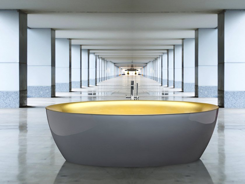 Freestanding oval bathtub DIP | Freestanding bathtub by AQUAdesign
