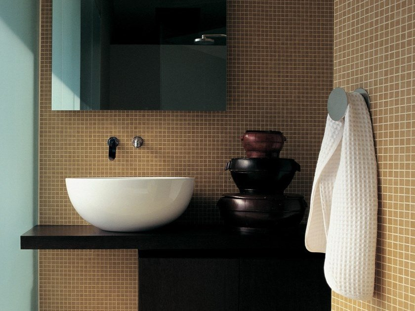 Lavabo da appoggio rotondo in ceramica DIP   Lavabo da appoggio by CERAMICA FLAMINIA