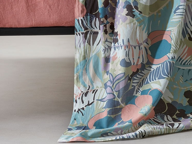 Cotton bed sheet with floral pattern DIP by Society Limonta