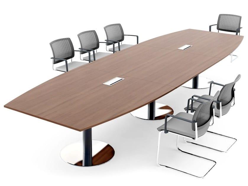 disc base table de r union ovale collection ogi by mdd. Black Bedroom Furniture Sets. Home Design Ideas