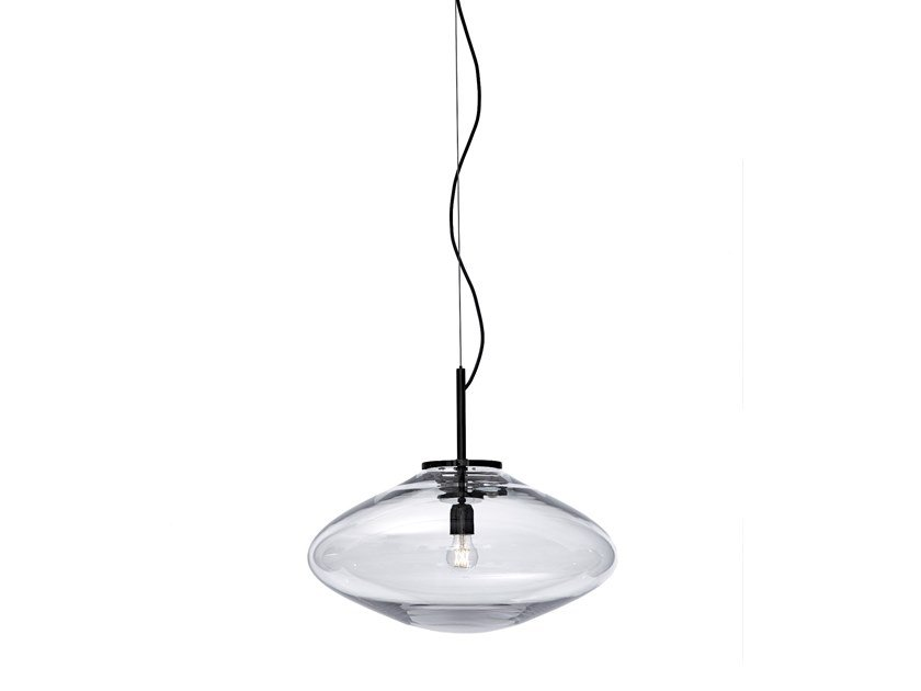 Blown glass pendant lamp DISC by bomma