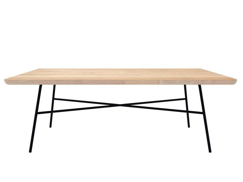 Rectangular oak coffee table OAK DISC | Rectangular coffee table by Ethnicraft