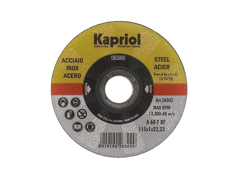 Discs DISCO DA TAGLIO ACCIAIO INOX by KAPRIOL