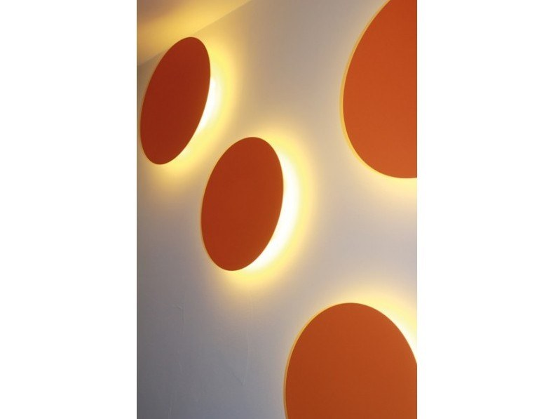 LED plaster wall light DISCO by GESSO