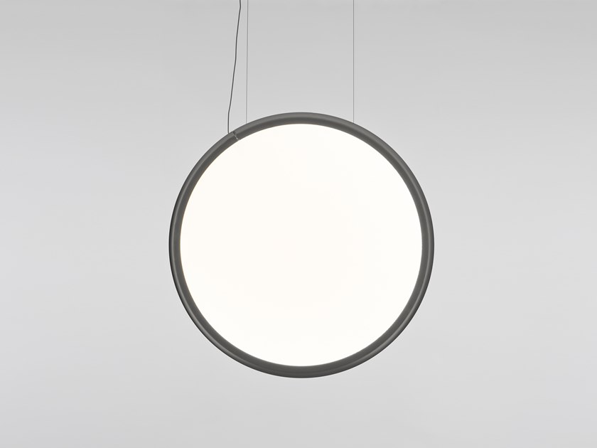 LED direct light technopolymer pendant lamp DISCOVERY VERTICAL by Artemide