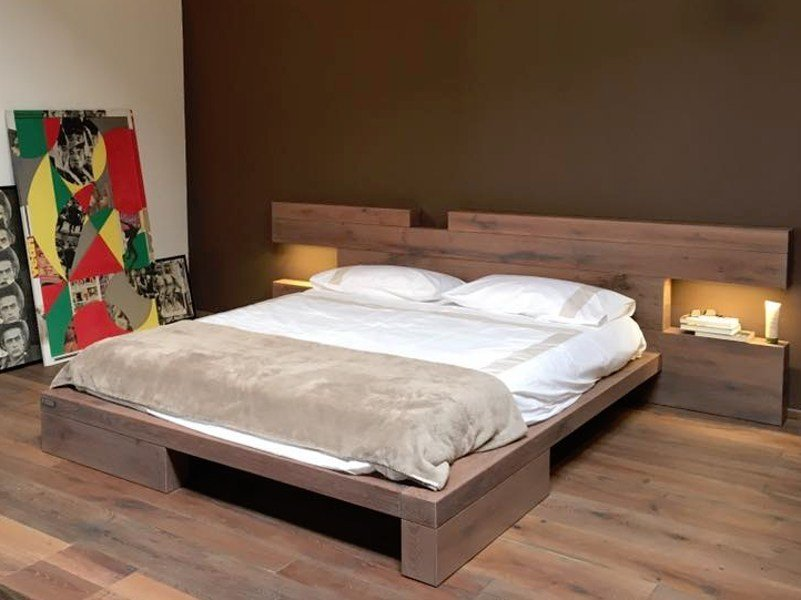 Wooden double bed DISEGNODILEGNO | Bed by FIEMME 3000