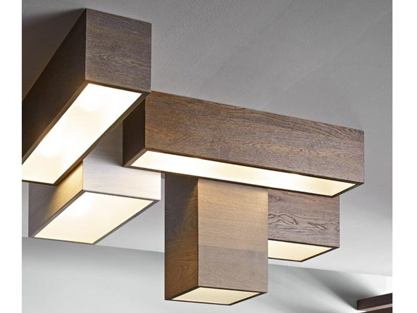 Modular wooden ceiling lamp DISEGNODILEGNO | Ceiling lamp by FIEMME 3000