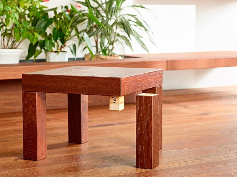 Square wooden coffee table DISEGNODILEGNO | Coffee table by FIEMME 3000
