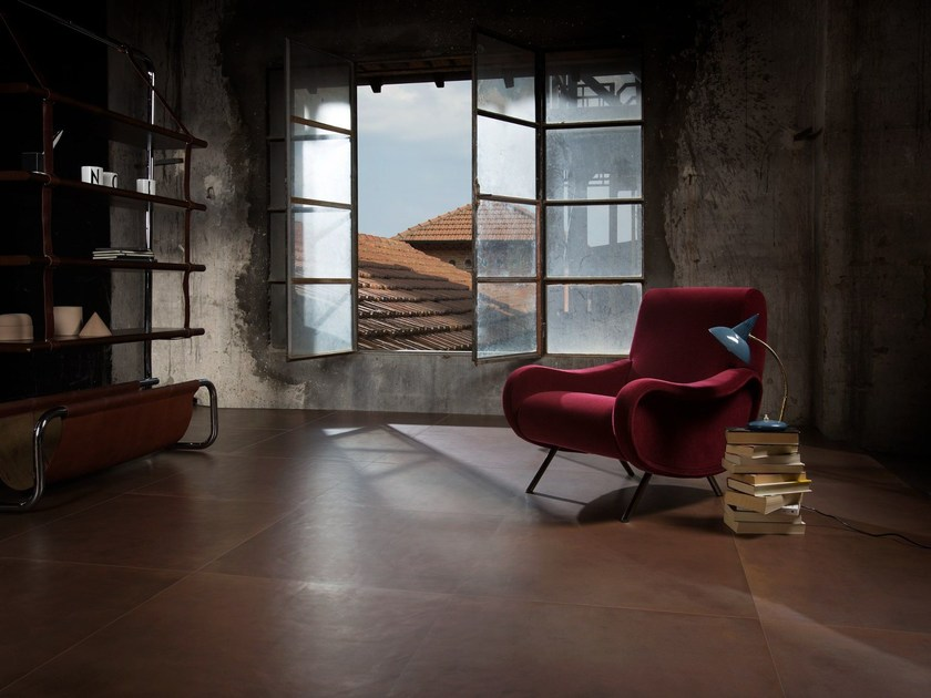 Porcelain stoneware flooring with metal effect DISTRICT | Flooring by Ceramica d'Imola