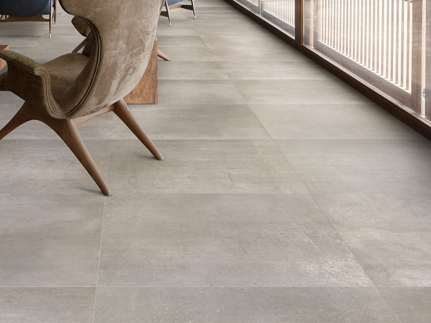 Antibacterial wall/floor tiles with concrete effect DISTRICT STREET by LEA CERAMICHE
