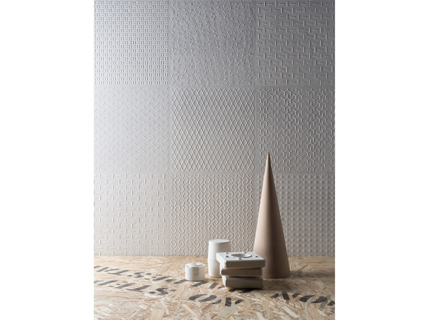 Double-fired ceramic 3D Wall Cladding DISTRICT | 3D Wall Cladding by Ceramica d'Imola