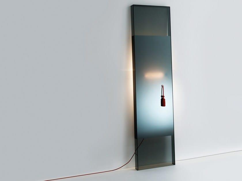 Freestanding rectangular mirror DIVA by Glas Italia