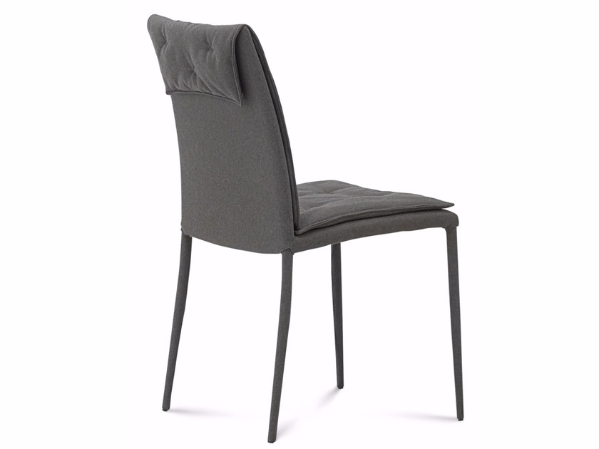 Tufted chair with removable cover DIVA-I | Chair by DOMITALIA