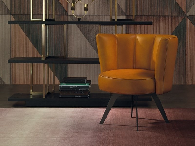 Diva Leather Easy Chair Diva Collection By Borzalino Design Carlo