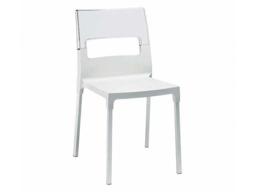 Stackable polypropylene chair DIVA by SCAB DESIGN