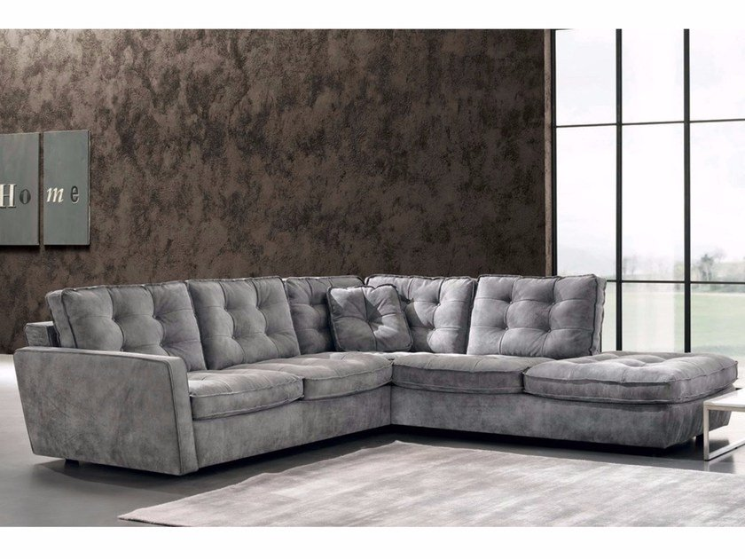 Tufted sectional sofa DIVA | Sectional sofa by Max Divani