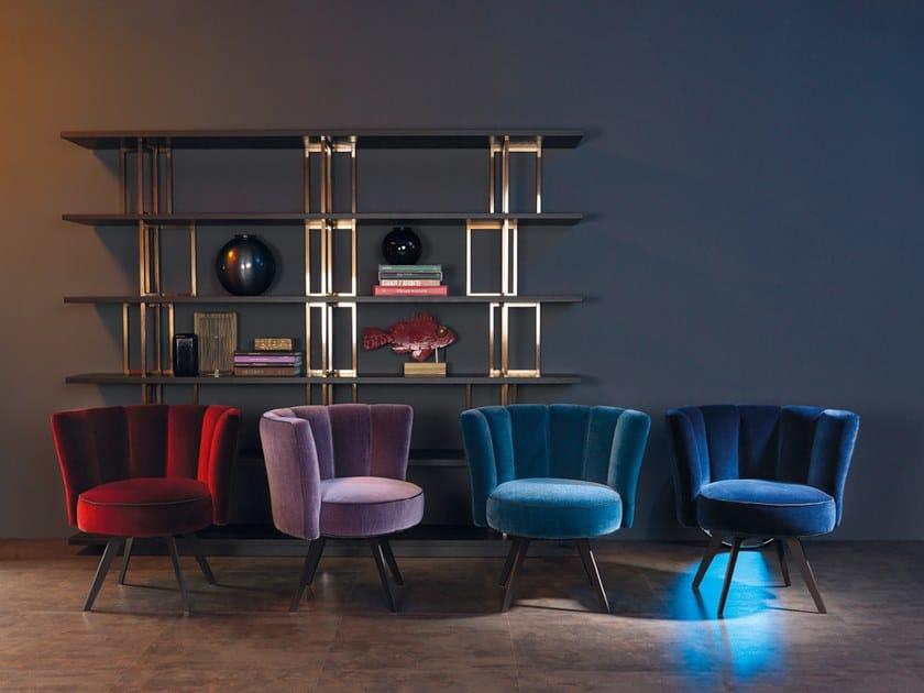 Upholstered velvet easy chair DIVA | Velvet easy chair by Borzalino