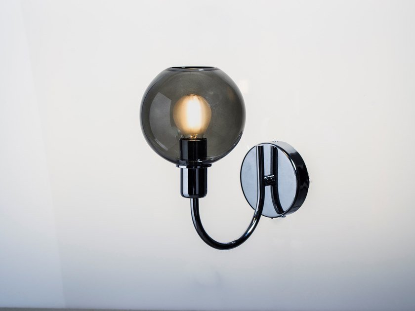 LED Borosilicate glass wall lamp DIVA   Wall lamp by SP Light and Design