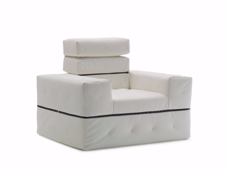 Armchair bed with removable cover DIVALETTO | Armchair by Milano Bedding